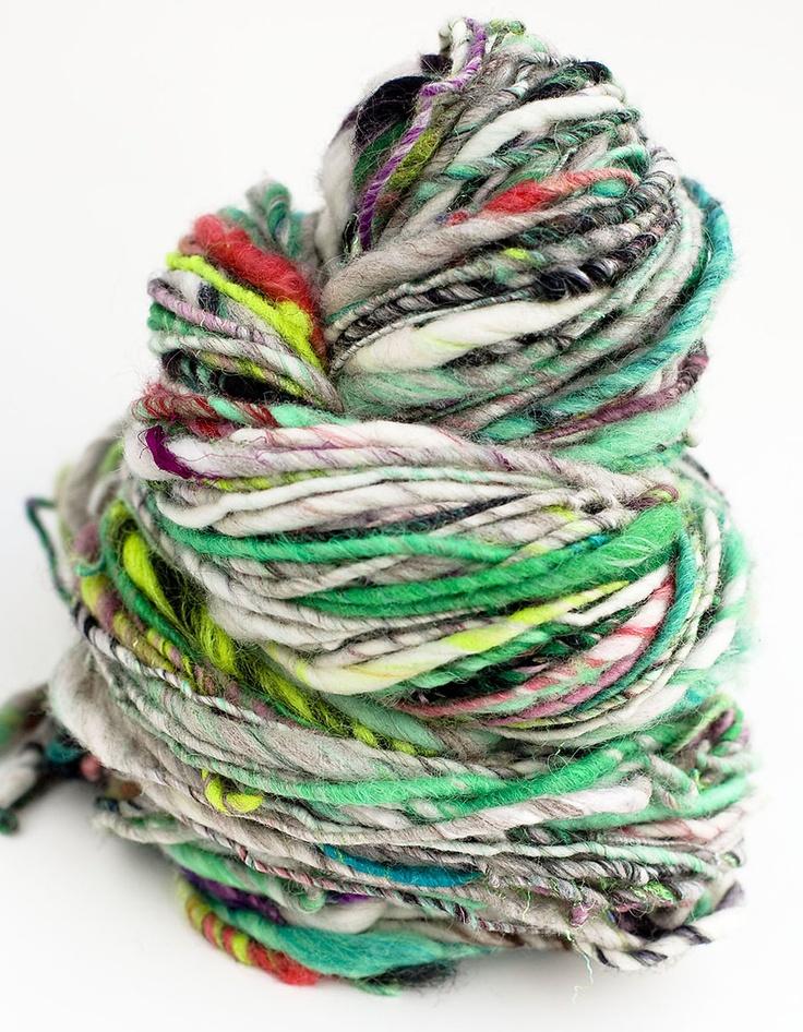 handspun yarn spinning / art yarn Pinterest
