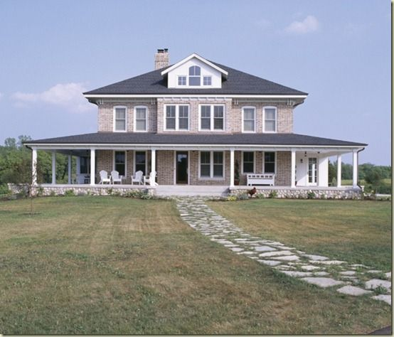 Brick farmhouse home exterior pinterest for Farmhouse brick