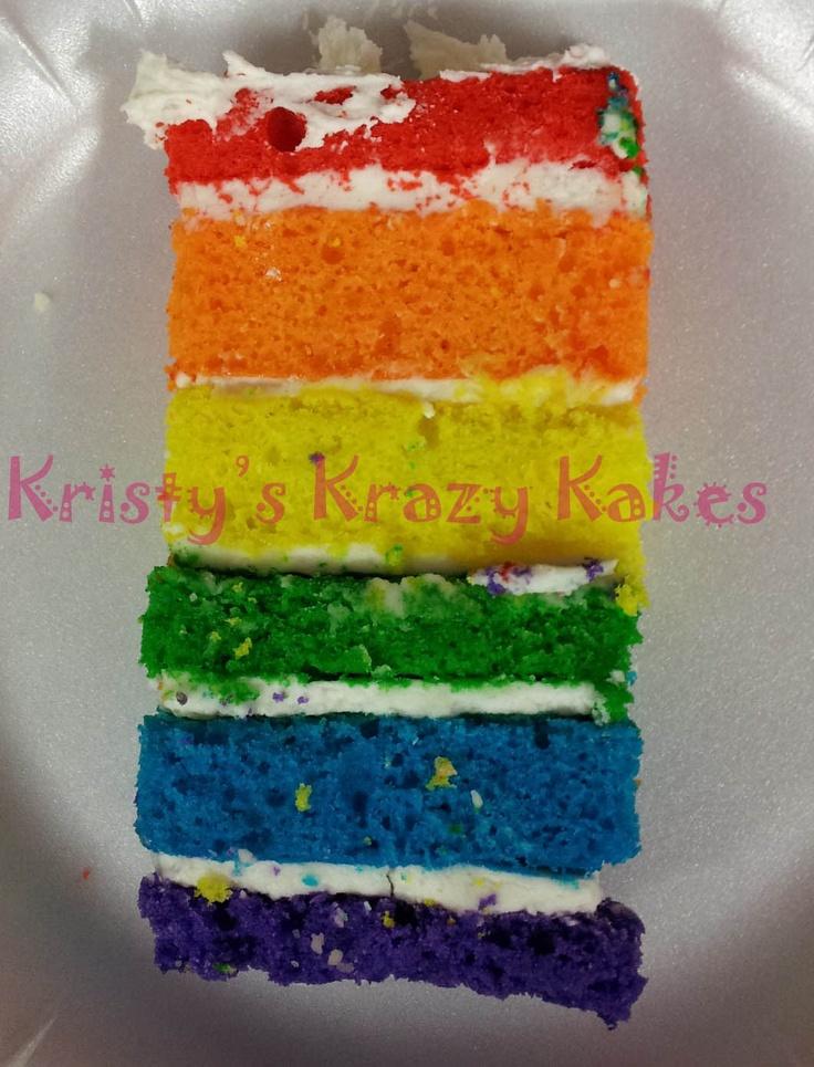 rainbow layer cake. | kids cakes | Pinterest