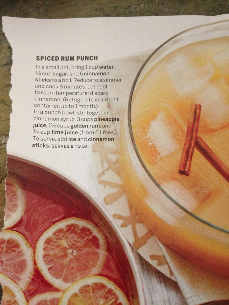 ... , just be sure to stir each time someone gets a cup. Spiced Rum Punch