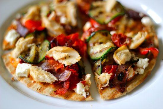 Greek Pita Pizza! ~ By: Dashing Dish Healthy Alternatives To The Food ...