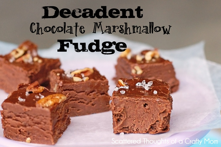 ... Thoughts of a Crafty Mom: Decadent Chocolate Marshmallow Fudge