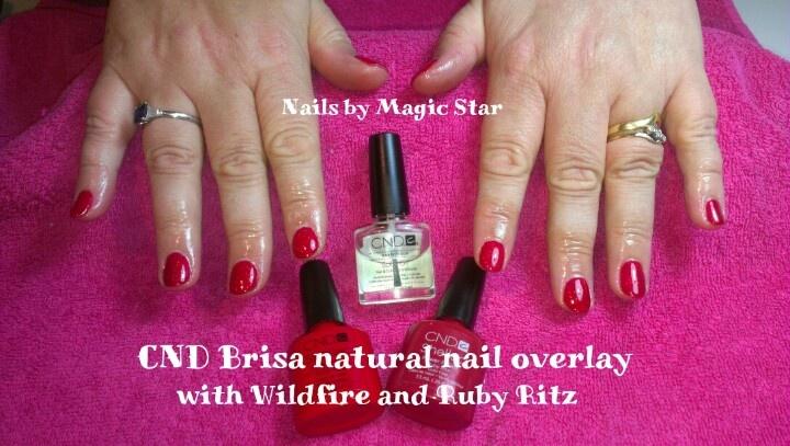 CND Natural Nail Overlay and Shellac | Magic Star Nails | Pinterest