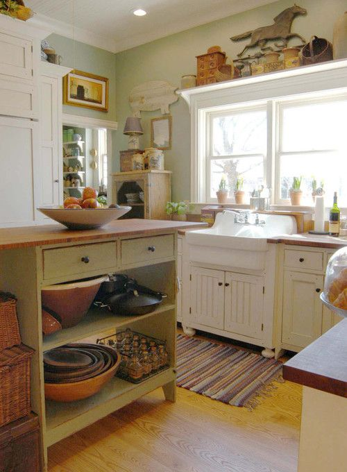 Country Kitchen Sink : Charming Country Kitchen with apron sink Kitchen Decor Pinterest
