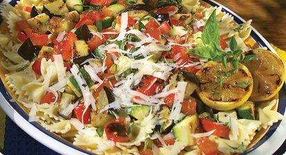Spaghetti With Grilled Ratatouille Recipe — Dishmaps