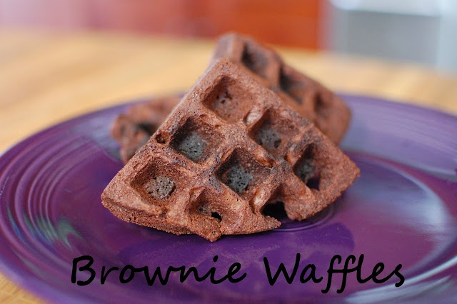 Brownie Waffles. Just made these, with some homemade ice cream in a ...