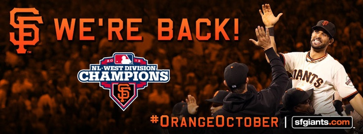 #NLWest Champs - The #SFGiants are back...and so is #OrangeOctober