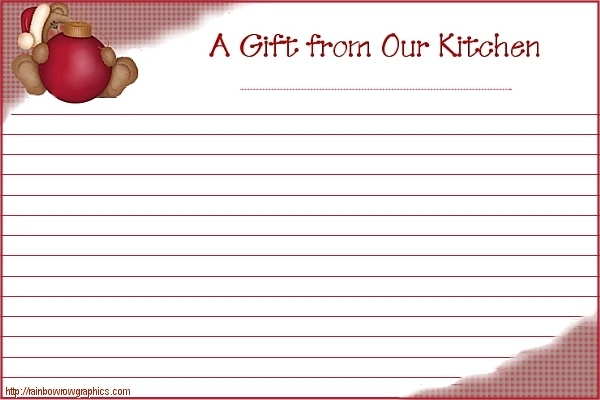 cute printable christmas recipe cards | printables 18 ...