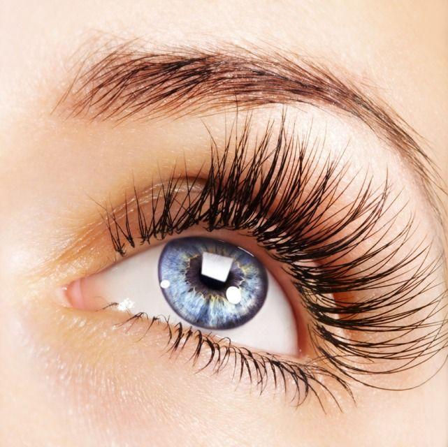 Long eyelashes..