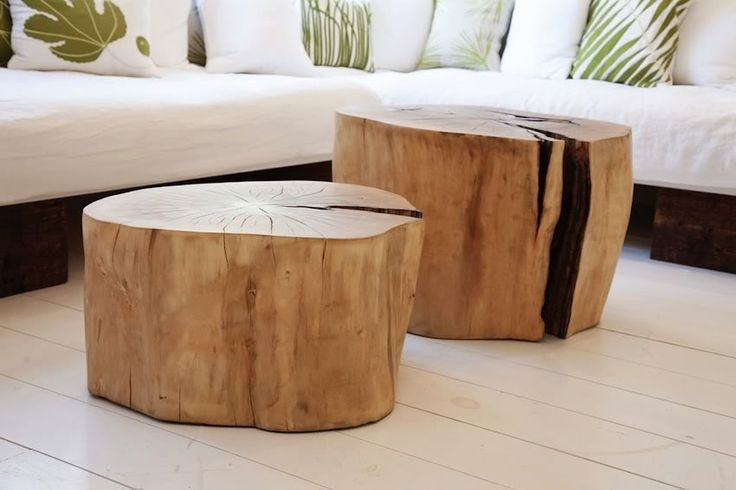 coffee table from tree stump home pinterest