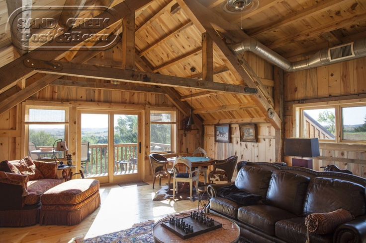 Loft Living Space Sand Creek Post Beam Pinterest
