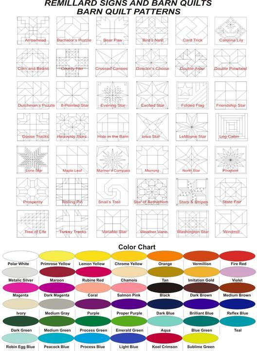 Barn-Quilt-Patterns, reference guild | ~Quilting & Sewing~ | Pinterest