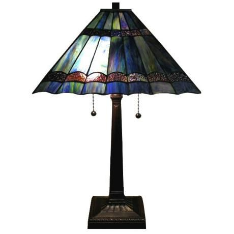 Passion Table Lamp : Passion Purple Blue Mission Tiffany Style Table Lamp -