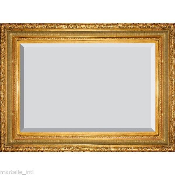 Ft+Mirror Large Wall Mirror Gold Beveled Glass 6 ft Handmade New ...