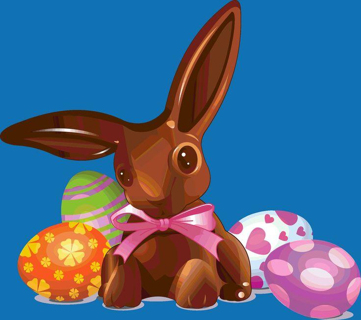 Easter-Chocolate Bunny and Eggs | páscoa !!! | Pinterest