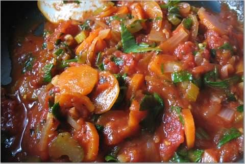 Vegetable pasta sauce - chunky, wholesome, homemade ~ Teczcape-An ...