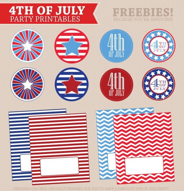 free 4th of july decorations