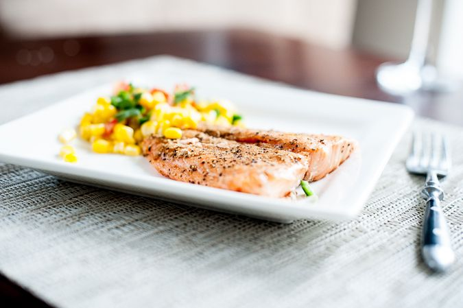 Grilled Salmon with Roasted Corn Relish (via www.ingoodtastemag.com) # ...