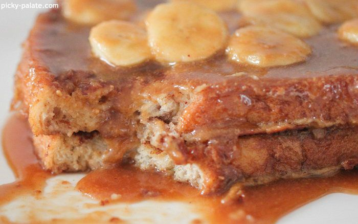 Peanut Butter Bananas Foster French Toast - Picky Palate
