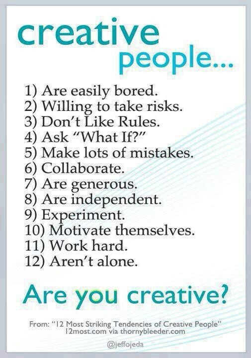 Creative people traits | Writing Helps, Ideas, & Tools | Pinterest