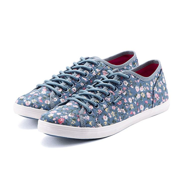 VANCL Izabella Floral Print Canvas Shoes (Women) Blue SKU:170364