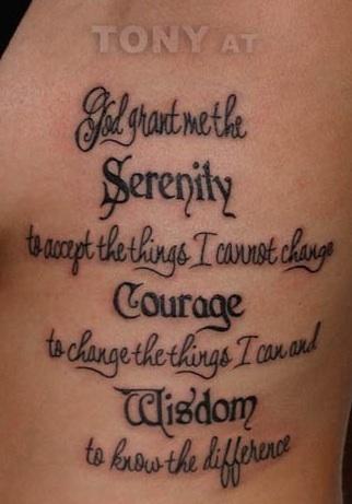 Serenity Prayer Symbol Tattoo