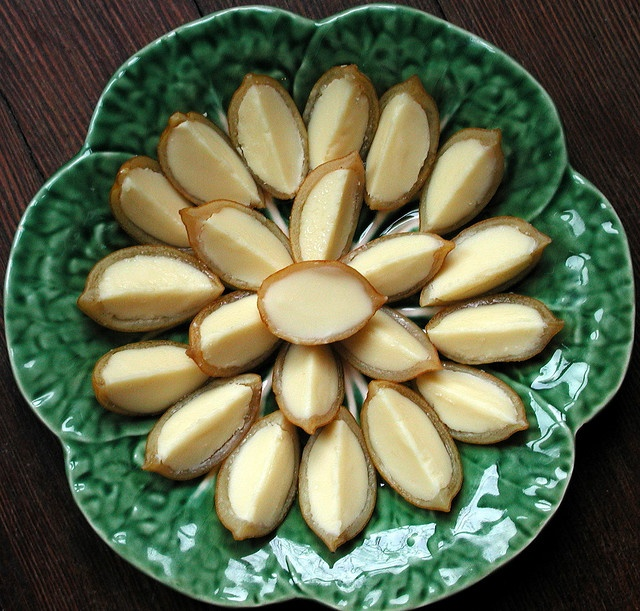 candied meyer lemon peels filled with belgian white chocolate truffle