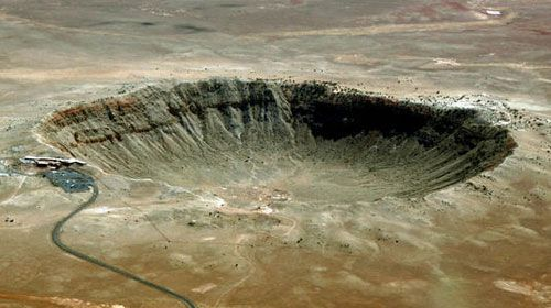 an analysis of meteor craters in the surface of the earth Craters on earth  meteor crater photo courtesy of d reddy  the surface of earth was once covered with large craters but the earth's surface has an active .
