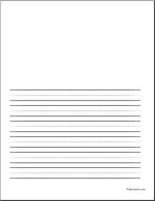 Kindergarten line paper