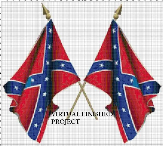 Crochet Patterns Rebel Flag : bead cross stitch patterns Examples of stitching chart in B&W ...