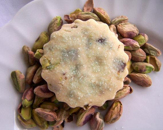 Pistachio Chocolate Shortbread Cookies 1 Dozen by ButterBlossoms, $13 ...