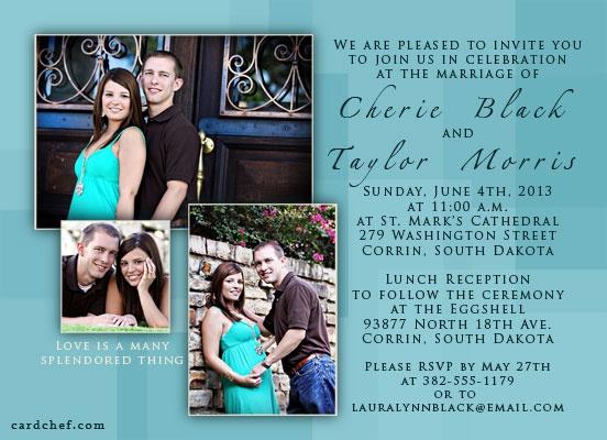 Teal wedding invitations wedding pinterest