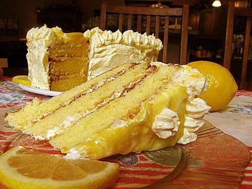 Lemon curd layer cake | Recipes | Pinterest