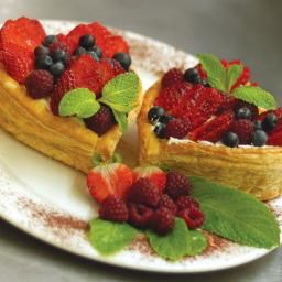 Puff Pastry with Fresh Berries http://www.bakersfieldmagazine.net/food ...