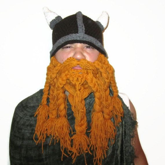 Crochet Viking Hat With Beard : Crochet Beard