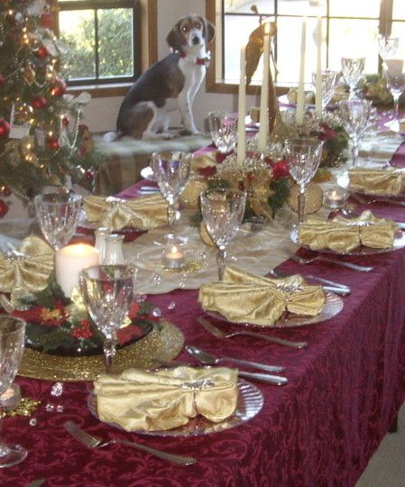 Christmas Tablescape Red Gold Holiday Pinterest
