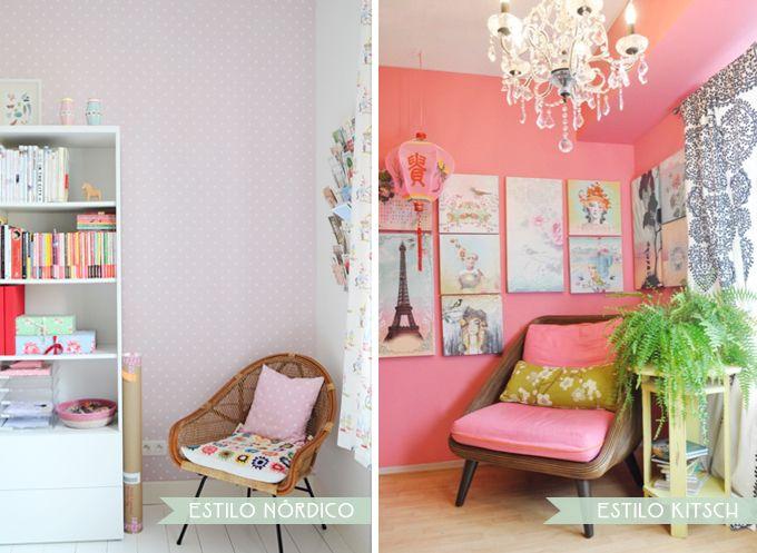 Estilos Decoracion Kitsch ~ rincon estilo nordico vs kitsch  Beautiful home  Pinterest