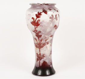 Galle French Art Glass Large Cameo Vase   GALLE   Pinterest