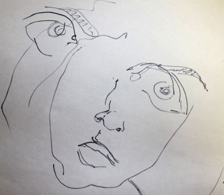 What Is Blind Contour Line Drawing : Blind contour drawing digital magazine pinterest