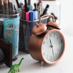 Transform your cheap Ikea clock with liquid copper leaf.