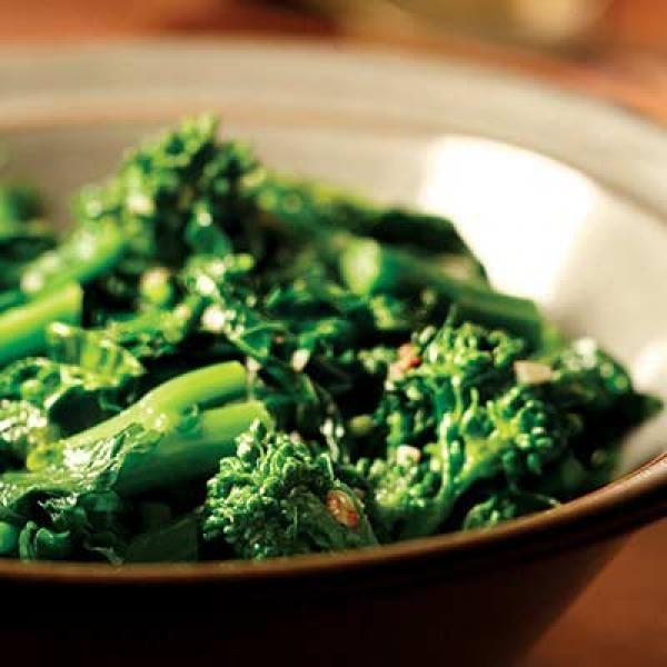 Broccoli Rabe with Garlic & Anchovies | KitchenDaily.com -- minus the ...