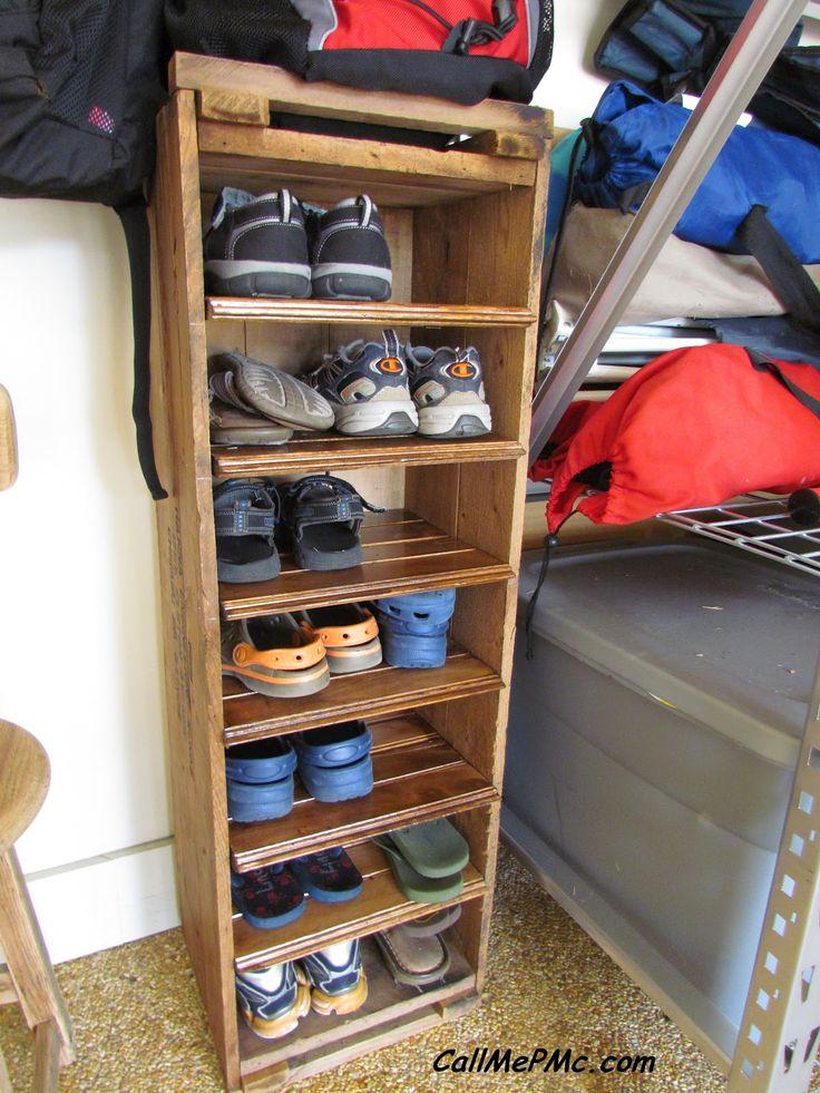 diy shoe rack from scrap wood. Black Bedroom Furniture Sets. Home Design Ideas