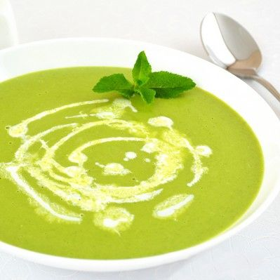 Pureed Pea Soup With Mint Recipe — Dishmaps