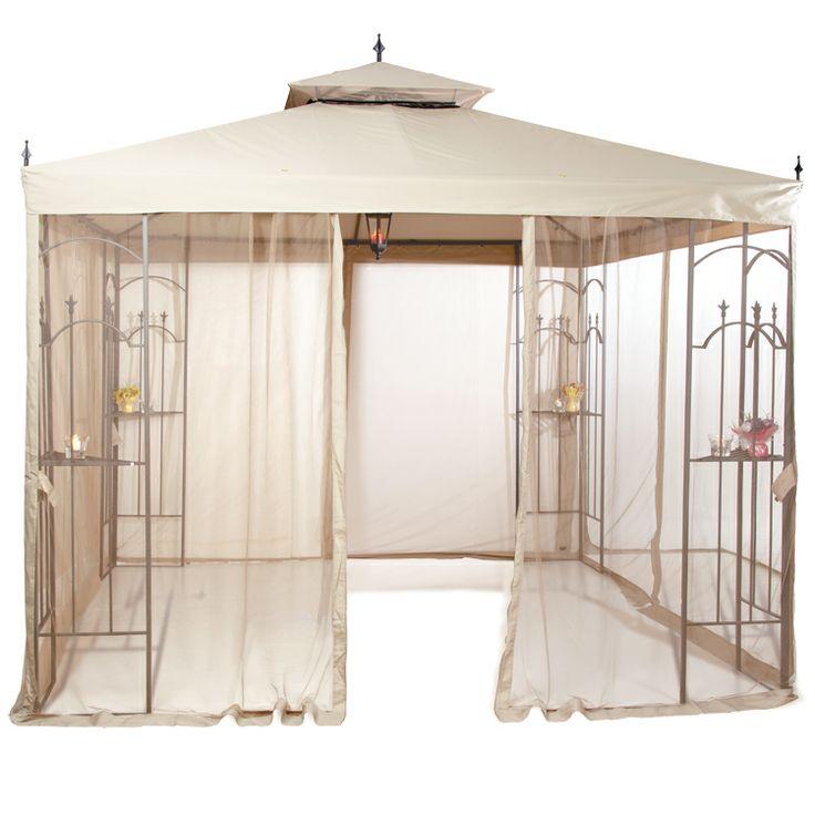 10 x 12 chatham hardtop gazebo with mosquito netting ask - Screen netting for gazebo ...