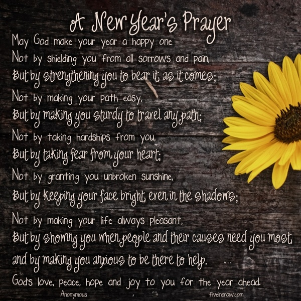 Christian prayer for a new year