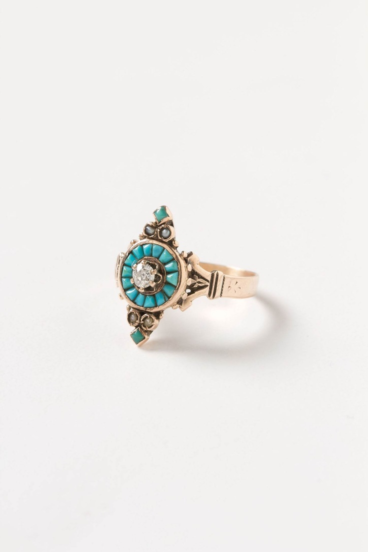 and turquoise ring