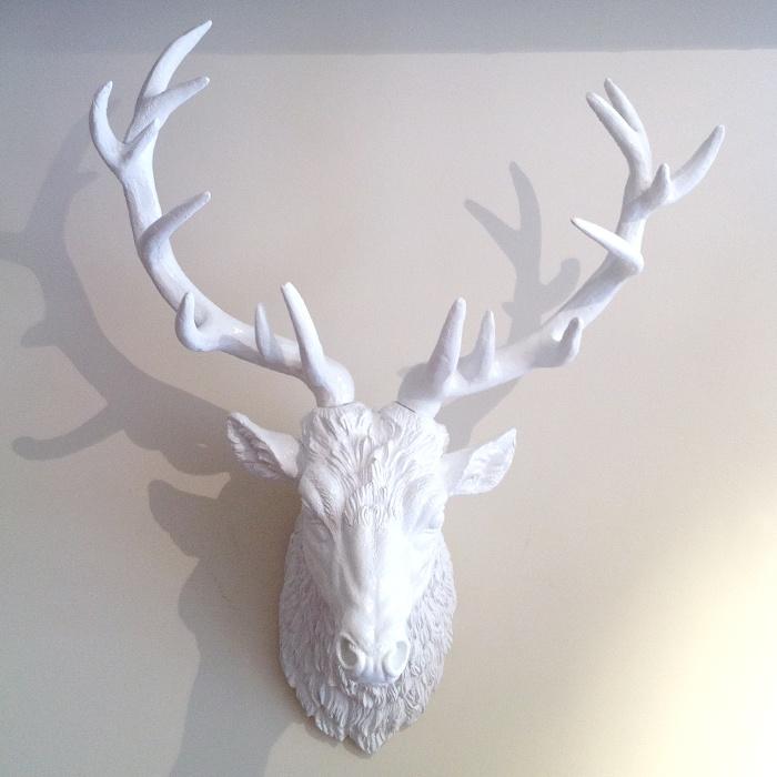 Animal Head Wall Decor White : White deer head wall decor men s fashion