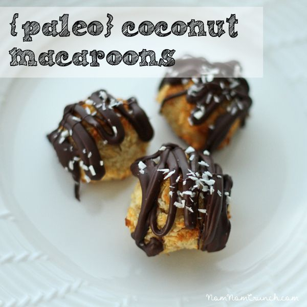 Paleo} Coconut Macaroons   Edibles   Pinterest