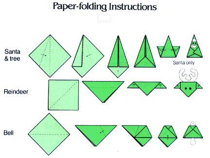 origami ornament instructions christmas art fun pinterest