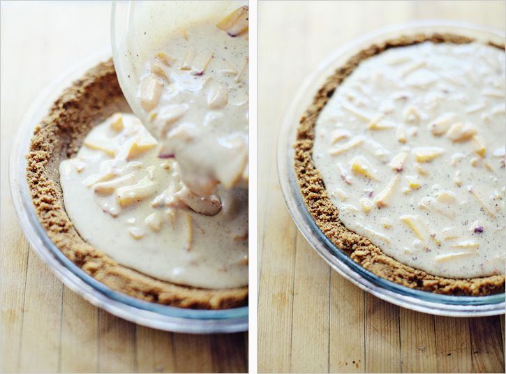 Peach cream in ginger snap crust. I love anything with ginger snaps!